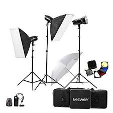 photography strobe lights for sale amazon com neewer 750w 250w x 3 professional photography studio