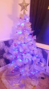 blue tree lights with white cords wire led