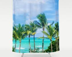 Palm Tree Bathroom Accessories by Tropical Palms Shower Curtain Vintage Palm Trees Green