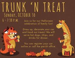 halloween trunk n treat st john the evangelist catholic church