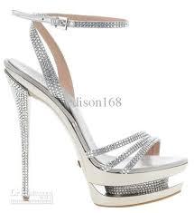 alfa img showing u003e silver sandals high heels silver high heels