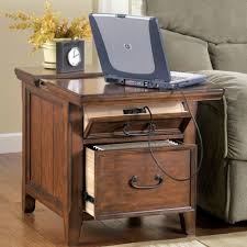 Living Room Wood File Cabinet End Tables Decor Ideas Features Teak Wood Frames And Sliding Table