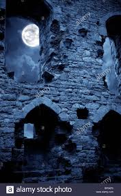 spooky halloween pics a very spooky halloween castle in the moonlight stock photo
