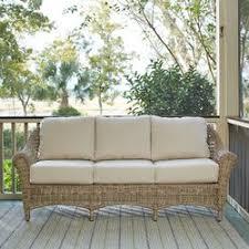 Sunbrella Indoor Sofa by Lynwood Wicker Sofa With Sunbrella Cushions U0026 Reviews Birch Lane