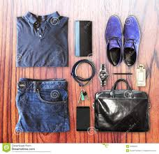 men set set of men s clothing and accessories stock image image of