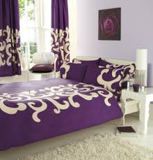 purple u0026 cream king size duvet set with matching curtains amazon
