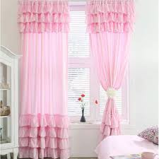 Ruffled Pink Curtains 7 Tiered Ruffle Curtain Panel Ruffled Curtains Bedrooms And Shabby