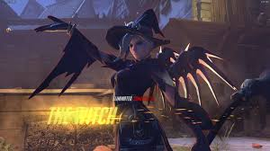 halloween mercy background see overwatch s halloween skins new co op pve brawl detailed