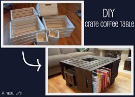 Diy Wood Coffee Table by Diy Furniture Crate Coffee Table A Trail Life