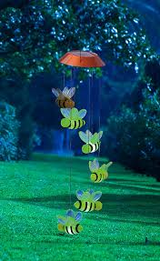bumble bee home decor amazon com busy days bumble bees solar powered mobile garden