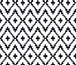 black and white fabric pattern southwest diamond chevron black on white fabric fable design