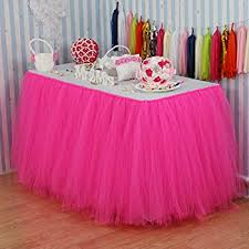 table covers for party vlovelife 100cm rainbow tulle tutu table skirt