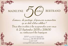 texte 50 ans de mariage noces d or invitation anniversaire mariage style rustique 123 cartes