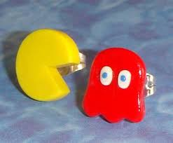 pacman earrings accessories pacman and ghost stud earrings