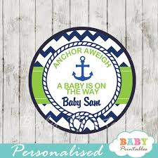 anchor baby shower navy green nautical anchor baby shower favor tags d195 baby