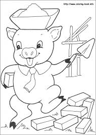 3 pigs coloring aecost net aecost net