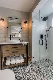 Rustic Tile Bathroom - 16 modern farmhouse bathrooms