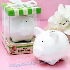 piggy bank party favors baby birthday party piggy bank baby shower favor gift tc018