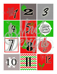 printable advent calendar numbers christmas countdown