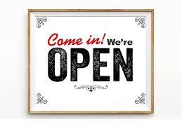 printable art business come in we are open sign printable instant download business signage