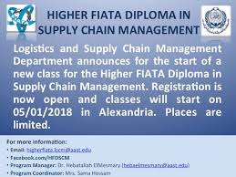 Now Open For Supply Chain Higher Fiata Diploma In Supply Chain Management Home