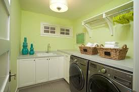 Laundry Cabinet With Hanging Rod Hanging Rod And Shelf Ideas Laundry Room Transitional With Black