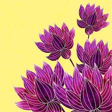 blooming flowers background violet sketch free vector in adobe