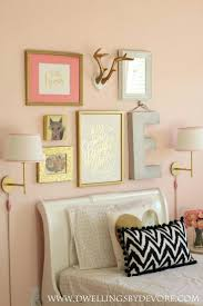 peach color living room bedroom interior design with peach painted