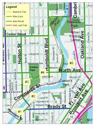 Map Of Milwaukee Beerline Trail Map Over The Bars In Wisconsin