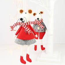 pair of christmas mice hanging decorations lisa angel