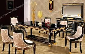 black lacquer dining room chairs italian dining set furniture contemporary dining room modern