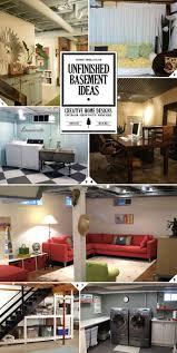 stylish inexpensive unfinished basement ideas cool basement ideas