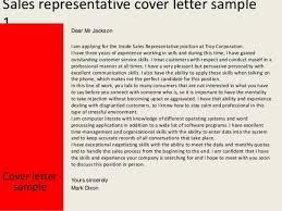 sales representative cover letter 10 sales representative cover
