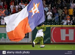 Flags Houston Houston Tx Usa 30th May 2015 Orbit The Houston Astros