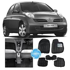 nissan micra active india digitru car 3d floor mats for nissan micra active black car