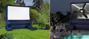 Backyard Movie Theatre by Inflatable Movie Screen Ebay