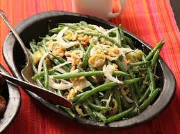 green bean salad with pickled peppers and anchovy dressing recipe