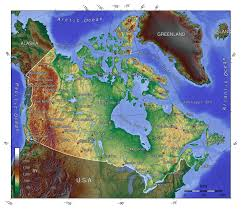 Topographical Map Of Europe by Detailed Topographical Map Of Canada Canada Detailed