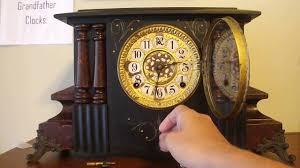 Mantel Clocks Antique Antique Gilbert Adamantine Mantel Clock Youtube