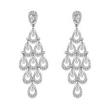 chandelier diamonds diamond articulated chandelier earrings betteridge