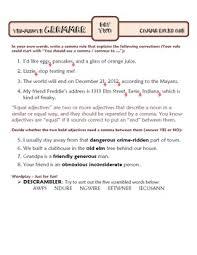 comma rules lesson one ten minute grammar unit 16 by arik durfee