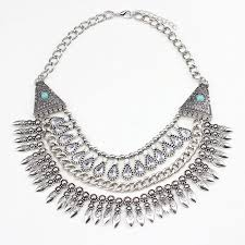 bib necklace metal images 2016 spring design bohemian metal beads chain bib necklace office jpg