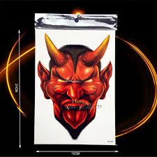 1pc cool body arm art temporary fake tattoo demon vampire monster