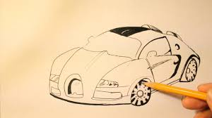 bugatti car drawing how to draw bugatti veyron step by step easy super sport youtube