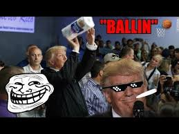 Paper Throwing Meme - ballin song donald trump throws paper towels at puerto ricans