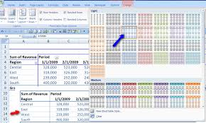Excel 2010 Pivot Table Pivot Tables 101 Excel 2007 Styles Mariana U0027s Musings