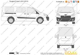 peugeot partner 2016 white the blueprints com vector drawing peugeot expert l2h2