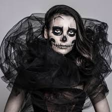Halloween Skeleton Faces by Gothic Skull Queen Make Up U2013 Halloweenmakeup Com