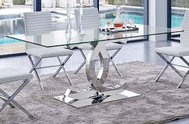 Clear Dining Room Table Dining Table W Clear Glass Top U0026 Optional Chairs By Esf