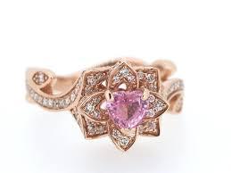flower engagement rings stunning pink flower engagement ring portfolio